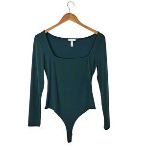 Leith Green Bodysuit NWT Size Medium